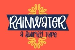 Web Font Rainwater - A Quirky Type Product Image 1