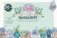 My Lovely Succulents. Watercolor Set Product Image 1
