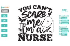 You Can't Scare Me I'm a Nurse SVG Cut File Product Image 2