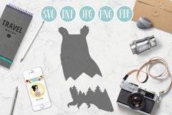 owl svg, mountain owl clipart, mountain, adventure explore Product Image 1