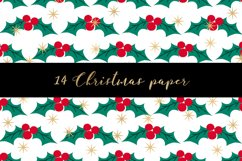 Christmas digital paper pattern Product Image 3