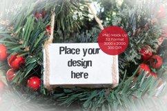Christmas White Wood Block Ornament Mock Up Product Image 1