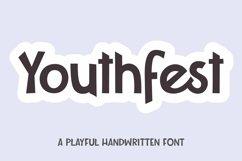 Web Font Youthfest - a playful handwritten font Product Image 1