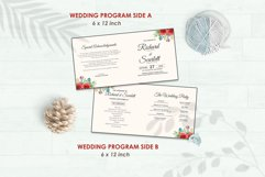 Wedding Invitation Set #4 Watercolor Floral Flower Style Product Image 5