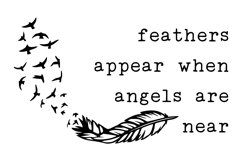 Feathers appear when Angels are near - SVG PNG EPS Product Image 2