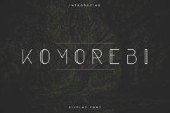 Komorebi Display Font Product Image 1