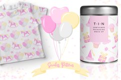 Fairy Birthday Pink Girl Clipart Set Hand Drawn Pastel Product Image 3