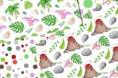 Watercolor Dinosaur Patterns, Cute Dinosaur Digital Papers Product Image 6