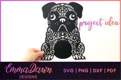 HENRI THE PUG DOG SVG MANDALA ZENTANGLE BUNDLE 4 DESIGNS Product Image 4