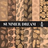Copper Palm Leaves Paper Product Image 1