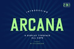Arcana a Modern Display Typeface Product Image 1