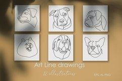16 Dogs line drawings. Dog breeds Product Image 2