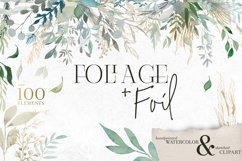 Foliage and Foil Botanical Clipart Product Image 1