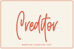 Creditor - Monoline Signature Font Product Image 1
