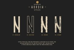 Nordin Vintage Font Family Bonus Badge Logo Product Image 5