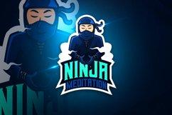 Ninja Meditation - Mascot & Esport Logo Product Image 1