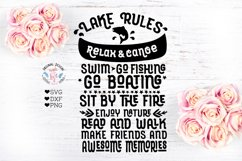 Lake Rules Cut File Product Image 1