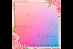 16 Rainbow Gradient Texture Digital Papers, Fairy Tale Paper Product Image 3
