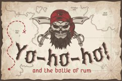 Yo-ho-ho. Vintage layered label font Product Image 1