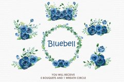 Bluebell - Digital Watercolor Floral Flower Style Clipart Product Image 3