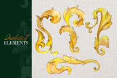 Gold super Monograms Watercolor png Product Image 6