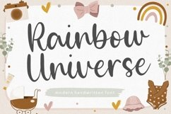 Rainbow Universe is a Modern Handwritten Font Product Image 1