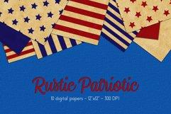 Patriotic Digital Paper Set Product Image 1