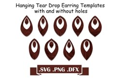 Hanging Tear Drop Earring SVG Templates Product Image 1