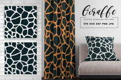 Giraffe Print Seamless Pattern Repeat Animal Texture SVG PNG Product Image 1