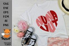 Nunavut Canadian Province Heart Shaped Word Art SVG Product Image 1