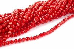 Photo of red Beautiful Sparkle Crystal Beads Texture Product Image 1