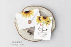 Watercolor Sunflowers Clipart, Autumn Flowers Product Image 2