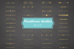 Handdrawn deviders gold - Ai + Eps + Png Product Image 1