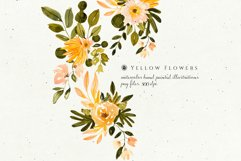 Yellow Watercolor Flowers Product Image 3