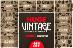 2200 Vintage Graphics Bundle Product Image 1