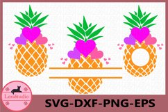 Pineapple with Heart Svg, Pineapples SVG, Heart, Monogram Product Image 1