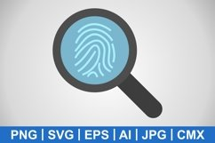 Vector Finger Print Icon Product Image 1