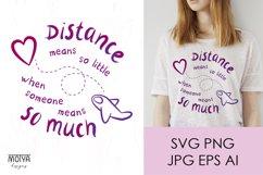 Valentines day svg, long distance relationship svg Product Image 1