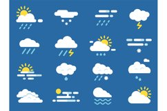 Weather icon set. Meteo symbols. Vector pictures in flat sty Product Image 1