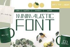 Minimalistic font - display font Product Image 1