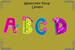 Watercolor Floral Letters Product Image 1
