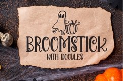 Broomstick - With Doodles - A Halloween Font Duo Product Image 1
