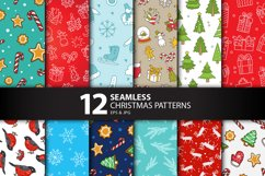 12 Seamless Christmas Patterns Product Image 1