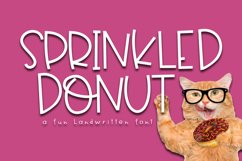 Sprinkled Donut - A Handwritten Font Product Image 1