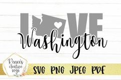 Washington Love | State SVG | SVG Cutting file Product Image 1