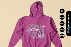 Work Hard Dream Big Hand Drawn Lettering Product Image 1