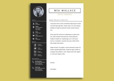 Elegant Minimalistic Resume Template With MS Word Product Image 4