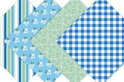 Blue Floral Digital Paper Pack Product Image 4