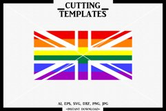 British LGBT Flag, LGBT, Silhouette, Cricut, Cameo,SVG, DXF Product Image 1