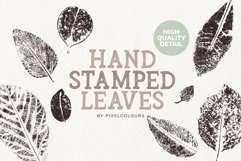 Hand Stamped Leaves Product Image 1